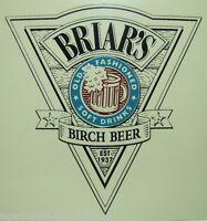 BRIAR'S BIRCH BEER Sign Old Fashioned Soft Drinks Soda Rootbeer Advertising