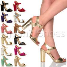Sandali e scarpe blocchetti cinturini alla caviglia sintetico per il mare da donna