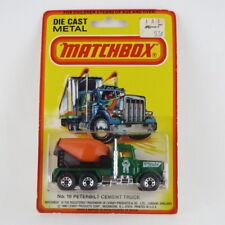 PETERBILT CEMENT TRUCK - No. 19 - VINTAGE 1980 MATCHBOX SUPERFAST - MINT ON CARD