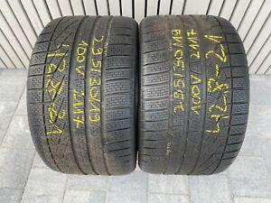 """2x 19"""" 7mm Pirelli Sottozero W240 N1 295/30 R19 100V Winter M+S Porsche 428-21"""