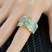Frauen Vintage Baum Ring Kreative Ring Schmuck Zubehör Modeschmuck F4P0