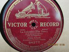 Alma Gluck Paul Reimers Der Tannenbaum - Single Sided Victor 78 RPM