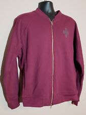 Drake Octobers Very Own OVO  maroon Owl sweatshirt zip up- Size Large...(K43)