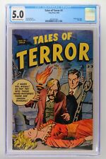Tales of Terror #1 - Toby Press 1952 CGC 5.0 Flying saucer story. Only issue.