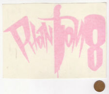PHANTOM 8 Window Sticker-Dagger-Tattoo Piercings-Englewood CO-Pink-Rectangle