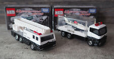 Tomica Kuji 19 - Hino Aerial Ladder Fire and Nissan Diesel Shark Aquarium Trucks