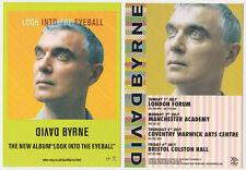 David Byrne - Uk album / tour promotional postcard - The Talking Heads