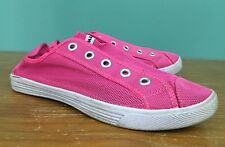 Airwalk Men's Bright Pink Laceless Mesh Sneaker Shoes - Size 9.5 - Lightweight