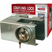 UNIVERSAL HEAVY DUTY CARAVAN TRAILER HITCH LOCK WITH ENCLOSED PADLOCK SECURITY