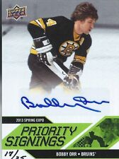 Bobby Orr Upper Deck   Priority Signings  #17/35 Autograph