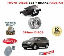 FOR TOYOTA RAV4 2.0 PETROL 2013-> FRONT BRAKE DISCS (328mm) SET + DISC PADS KIT