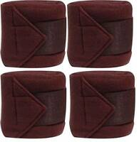 Set Of 4 BURGUNDY Fleece Polo/Leg Wraps ! NEW HORSE TACK!