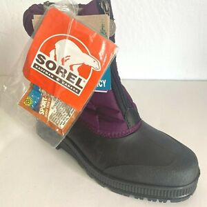 Sorel Snow Boots Size 10 Spirit Crush Plum Waterproof Zippered NWT