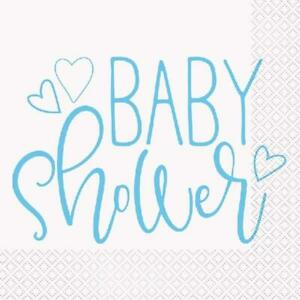 Baby Shower Blue Napkins - Pack of 16