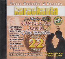 Banda Recodo Sergio Vega Cantale Al Amor Con Banda vol 80 Karaokanta New Sealed
