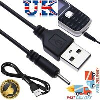 Small Pin USB Charger Lead Cord for CA-100 C Nokia Mobile - 2 mm to USB Cable UK