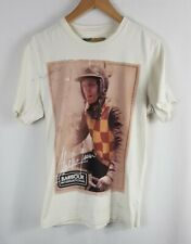 Barbour Steve McQueen Mens T Shirt Medium Size M Slim Fit Fitted Short Sleeved