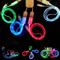LED Light Micro USB Charger Data Sync Cable for Samsung HTC Android Fashion USB