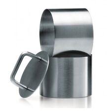 Kilo Stainless Steel Food Rings 3 Piece Set 6cm Plunger J331