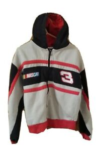 Chase Authentics Dale Earnhardt #3  Zip Up hooded Jacket Kids Nascar YOUTH M 5-6