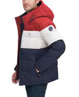 Tommy Hilfiger Men's Premium Heavyweight Micro Fleece Puffer Hooded Jacket Coat