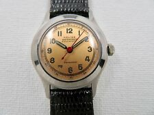 Boys Vintage Swiss Made Military Style RELIDE Manual Wind Watch 17 Jewels