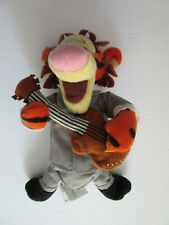 "9"" bean bag Tigger with guitar Disney Store 1984"