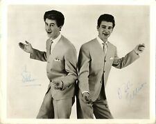 The Allisons - English 60's Pop Duo - Eurovision 1961 Hand Signed B & W Photo.