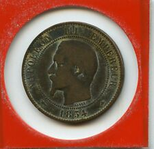 10 centimes Napoléon III 1854 BB petite abeille n° 3869