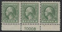 US Stamps - Scott # 525 - Plate # Strip of 3 - Mint Light hinge          (H-282)