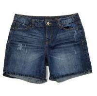 Attention Boyfriend Distressed Denim Jean Shorts Womens Size 10  W32 X L6