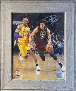 Giannis Antetokounmpo Autographed 8x10 vs. Kobe Bryant NBA Signed Photo BAS COA