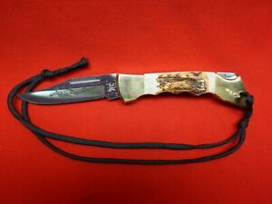 Case xx Hammerhead Knife With Sheath  Fully Finger Grooved Stag Handle