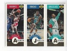 1996-97 COLLECTOR'S CHOICE MINI-CARDS GOLD ANTHONY, JOHNSON AUGMON #M85 M9 M1
