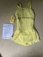 Girls Del Arbour Ice Skating Dress, Child 8-10, Never Worn, W Scrunchee,Crystals