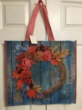 NEW Fall Shopping Bag Autumn Wreath Reusable Travel Tote Marshalls Homegoods