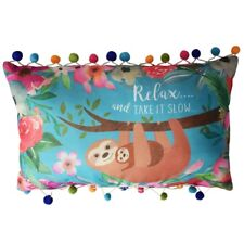 Sloth Cushion Relax and Take It Slow - Cute Animal Zoo Decorative Pillow Decor
