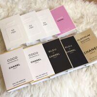 Chanel Paris Perfume Fragrance Spray Vial Roller Card Samples Choose