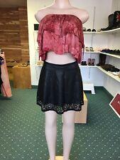Faux Leather Black Mini Skirt Size Medium