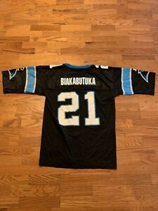 VINTAGE Starter NFL Tim Biakabutuka Carolina Panthers Jersey Size 48 Adult Large