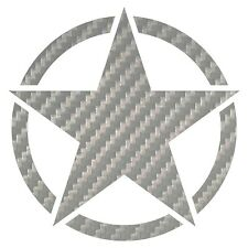 Carbon Fiber Star Decal Large Military Star Decals Choose Color Size