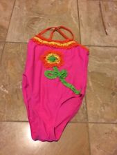 Flapdoodles Girls Pink Multi One piece Swimsuit Girls sz 6X