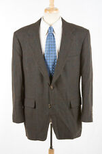 Vintage Brooks Brothers Sport Coat 46 R in Mossy Brown Plaid Camel Hair