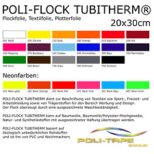 [33,33 €/m²] Flockfolie Textilfolie 20x30cm Bügelfolie Folie Poli-Tape Tubitherm