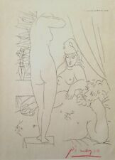 PABLO PICASSO HAND SIGNED * SERIES: THE ARTIST AND HIS MODEL * PRINT