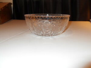 Absolutely Beautiful Lead Crystal, cut glass and etched. Height 8cm, Diameter 20