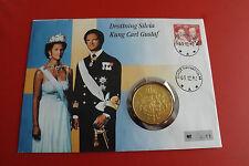 * Numisbrief Schweden 1992 mit 50 Krone Silber Münze 1976 * (ALB12)