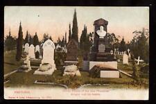 c.1907 burial places president Kruger family pretoria south africa postcard