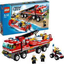 2010 RETIRED LEGO CITY FIRE 7213 OFF-ROAD FIRE TRUCK & FIREBOAT *NIB, ON HAND!!