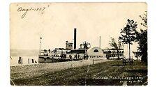 Cayuga Lake NY - FRONTENAC BEACH AT STEAMER LANDING - RPPC Postcard